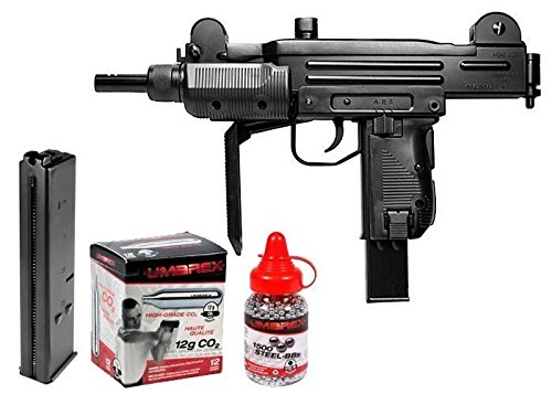 Airsoft Co2 Uzi (Uzi CO2 BB Submachine Gun Kit air pistol)