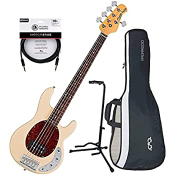 sterling by music man ray35ca 5 string electric bass guitar vintage cream w gig bag. Black Bedroom Furniture Sets. Home Design Ideas