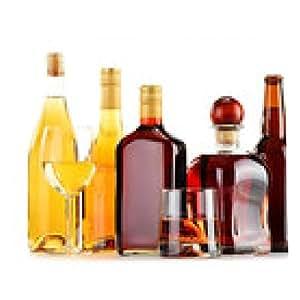 alfombrilla de ratón Botellas y vasos de bebidas alcohólicas una variedad de más de blanco - rectangular - 23cm x 19 cm