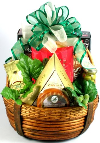 Executive Class Gourmet Salmon, Cheeses & Treats Gift Basket ()