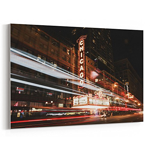 Westlake Photography - Canvas Print Wall - Chicago's Essex - Canvas Stretched Gallery Wrap - Modern Picture Photography Artwork - Ready to Hang - 18x12in (37x - Downtown Hotel Inn