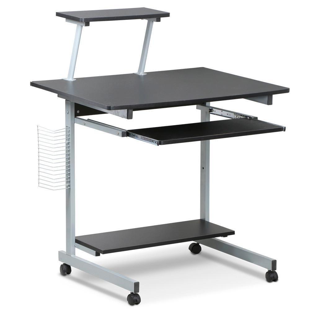 Yaheetech Schreibtisch Schreibtisch Schreibtisch Computertisch Laptoptisch rollbar mit Tastaturauszug 444271
