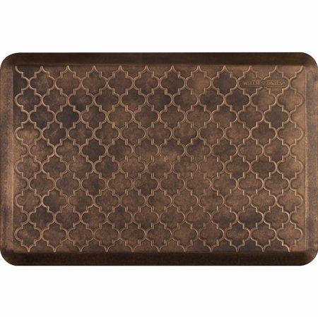 WellnessMats Estates Collection Essential Series Bronze Trellis 3 x 2 Foot Anti-Fatigue Mat