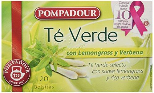 Pompadour Te Verde con Lemongrass y Verbena - 20 bolsitas