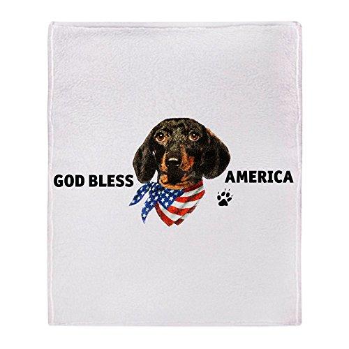 Stadium Throw Blanket God Bless Wiener Dog Dachshund ()