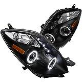 Spec-D Tuning 2LHP-YAR063JM-TM Toyota Yaris 3 Door Hatchback Black Halo Led Projector Headlights