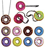 I Love Donuts Keychain. Assorted Colors. 24 PC Set. Fun Party Favor.