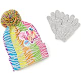 Nickelodeon JoJo Siwa Girls' Beanie/Knit Hat & Glove Set