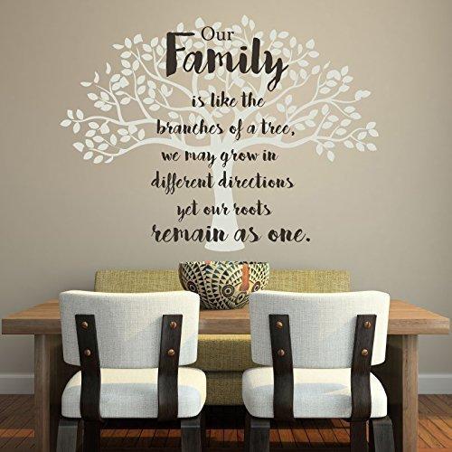Amazon.com: Family Tree Wall Decal Vinyl Decor for Decorating Home ...