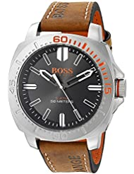 BOSS Orange Mens 1513294 Sao Paulo Analog Display Japanese Quartz Brown Watch