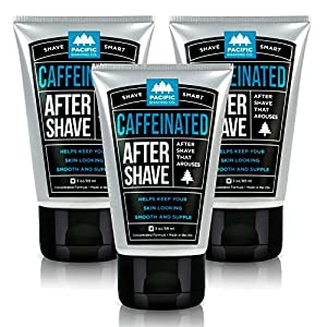 Pacific Shaving Co. - (3x) BUNDLE: Caffeinated Aftershave, Best Aftershave Moisturizer Balm - Helps Reduce Appearance of Razor-Burn, Safe Ingredients, Naturally-Derived Caffeine, Travel/TSA Compliant