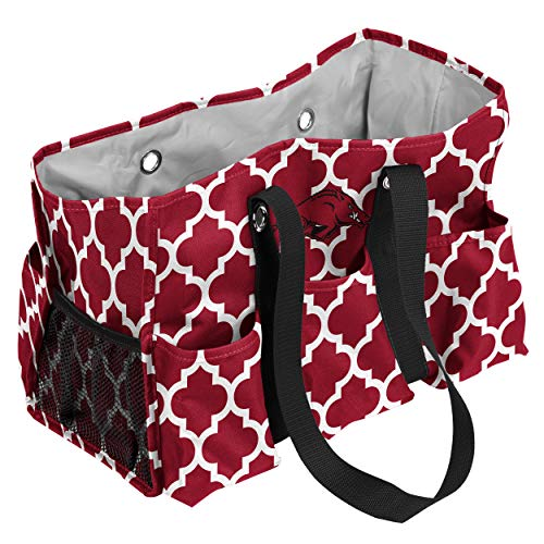 Logo Brands Arkansas Razorbacks Patterned Multi-Pocketed Junior Caddy - Multi Junior Handbags