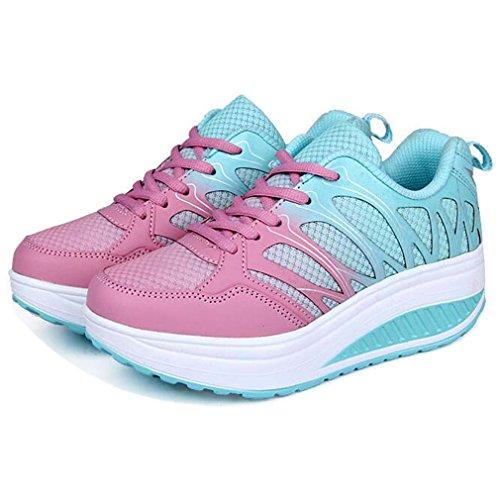 Solshine , chaussures compensées femme Bleu