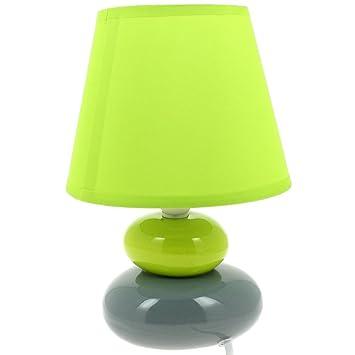 Zen Forme Jour Céramique Galets Abat Vert Pied Lampe wkXZulOTPi