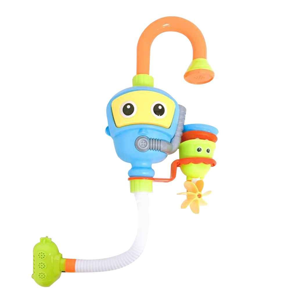 Bobury Children Multicolor Bathroom Spray Shower Water-taps Automatic Spout Water Baby Kids Bath Toys Playthings Set