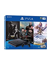 $309 » Newest Flagship Sony Play Station 4 1TB HDD Only on Playstation PS4 Console Slim Bundle - Included 3X Games (The Last of Us, God of War, Horizon Zero Dawn) 1TB Hard Drive Incredible Games -Jet Black
