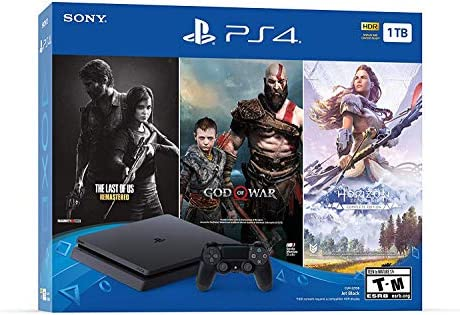 Sony Play Station 4 1TB HDD Only on Playstation PS4 Console Slim Bundle - Juego de Disco