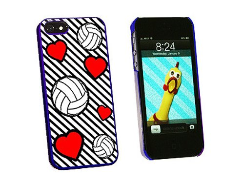 Graphics and More Volleyball Love Snap-On Hard Protective Case for iPhone 5/5s - Non-Retail Packaging - Blue - Iphone5s Volleyball Cases