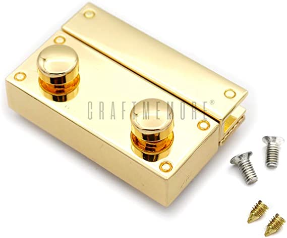 Large 35x26 mm, Silver CRAFTMEmore 2PCS Oval Twist Turn Locks Purse Closure Leathercraft Accessory Turn Lock Clasp Available 3 Sizes