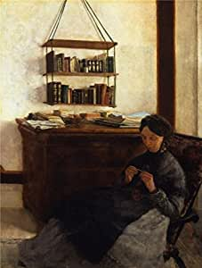 'Louis Eysen-The Artist's Mother,1877' oil painting, 10x13 inch / 25x34 cm ,printed on high quality polyster Canvas ,this Amazing Art Decorative Prints on Canvas is perfectly suitalbe for Nursery gallery art and Home artwork and Gifts