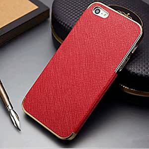 Buy Joyland Metal Coating Edge PU Leather Back Case for iPhone 5/5S(Assorted Color) , Black