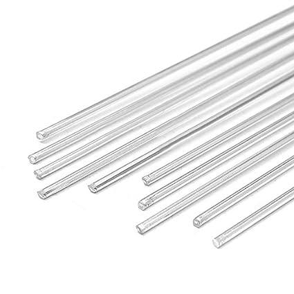 10pcs Baja Temperatura Barra de Soldadura Aluminio Magnesio Plata 1,6mm x 45cm