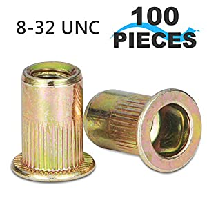 Rivet Nut, LOKMAN Zinc Plated Carbon Steel Rivet Nuts Threaded Insert Nuts in Variety Metric Size for Choice