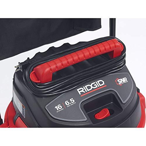 Ridgid 50353RID 1610RV Wet/Dry Vacuum, Stainless Steel, 16 gal, Red (Ridgid Shop Vac 16 Gallon 6-5 Hp)