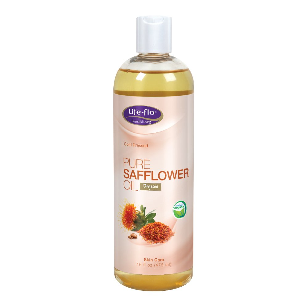 Life-Flo Pure Safflower Oil | Certified Organic, Cold Pressed, Food Grade & Hexane Free | For Skin & Hair, Aromatherapy, Massage Therapy | 16 fl. Oz