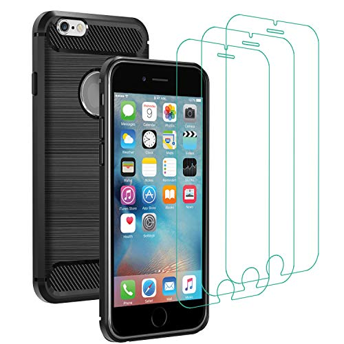 Coque + 3 verres trempés Iphone 6 Plus