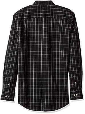 Van Heusen Men's Traveler Button Down Long Sleeve Stretch Black/Khaki/Grey Shirt