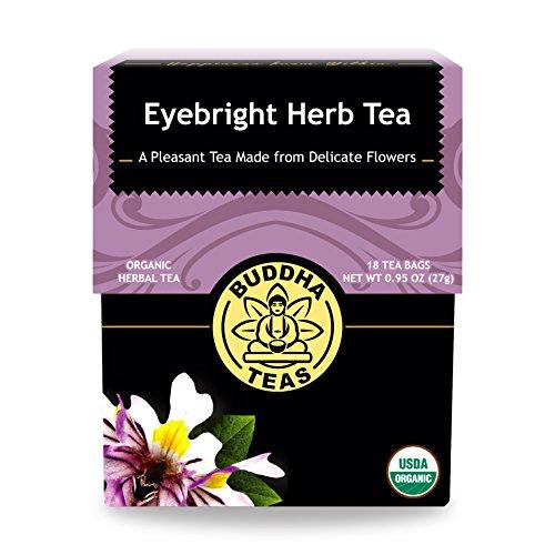 Organic Eyebright Herb Tea - Kosher, Caffeine-Free, GMO-Free - 18 Bleach-Free Tea Bags