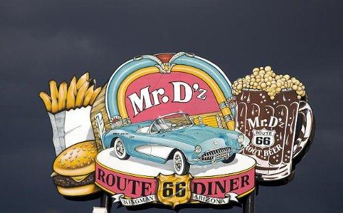 Photo: Mr. D'z Diner,Route 66,Kingman,Arizona,AZ,July 2006,Root Beer,America,Automobile