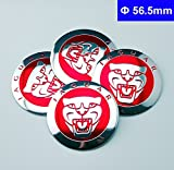 xj wheel center caps - 4pcs D030 56.5mm Emblem Badge Sticker Wheel Hub Caps Centre Cover Red JAGUAR Black XF XJ XJS XK S-TYPE X-TYPE
