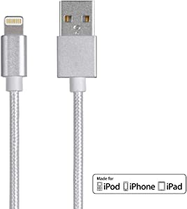 Monoprice Apple MFi Certified Lightning to USB Charge & Sync Cable - 1.5 Feet - White Compatible with iPhone X 8 8 Plus 7 7 Plus 6s 6 SE 5s, iPad, Pro, Air 2 - Palette Series