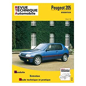 Rta 707.2 peugeot 205 essence 1.6/1.9 84/97 (French Edition) Collectif
