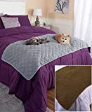 quilted bed runner - The Lakeside Collection Quilted Pet Bed Scarf - Brown