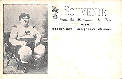Hungarian Fat Boy 18 years old weight over 30 stone Heaviest Person Postcard