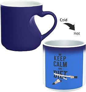 كوب سحري للقهوة أو الشاي بمقبض على شكل قلب، ماركة ديكالاك، mugHM-BLU-03115