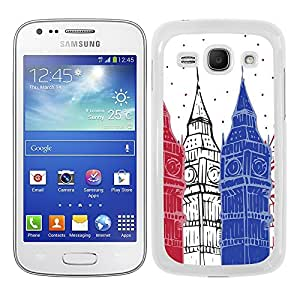 Funda carcasa para Samsung Galaxy Ace 3 diseño Londres Big Ben borde blanco