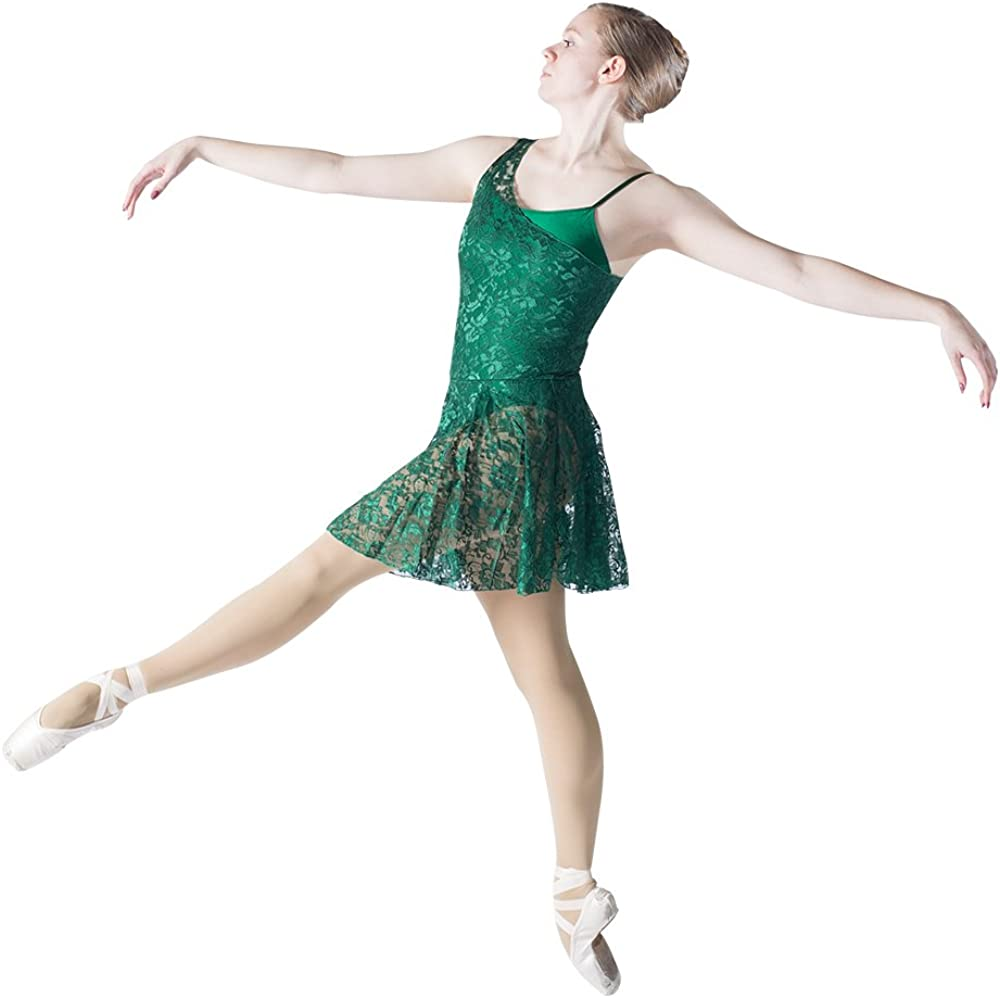 HDW DANCE Ladies Lyrical Contemporary Dance Dress NylonLycra Leotard with Mesh Skirts