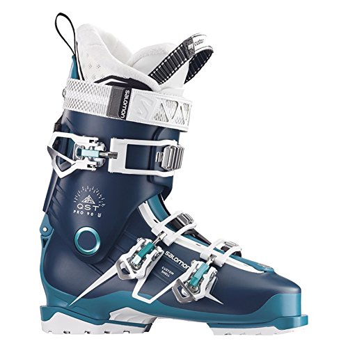 Salomon QST Pro 90 W Womens Ski Boots 2018 - 25.5/Petrol Blue-Blue-Aqua ()