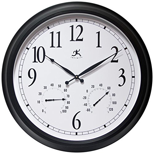 24 inch Black Wall Clock The Definitive by Infinity Instruments by Infinity Instruments