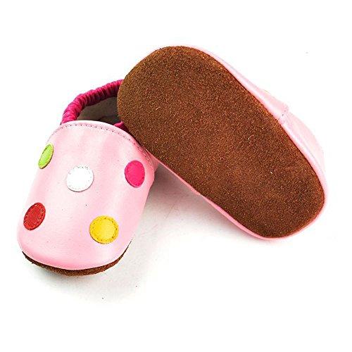 Vesi-Zapatos para bebé Primeros Pasos Zapatillas Infantiles para Niño/Niña Antideslizante Respirable Rosa Talla XL:18-24 Meses Lunares