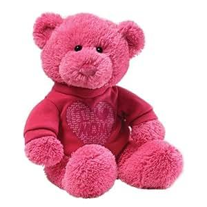 """Gund T-Shirt Bear I Love MOM 12"""" Plush"""