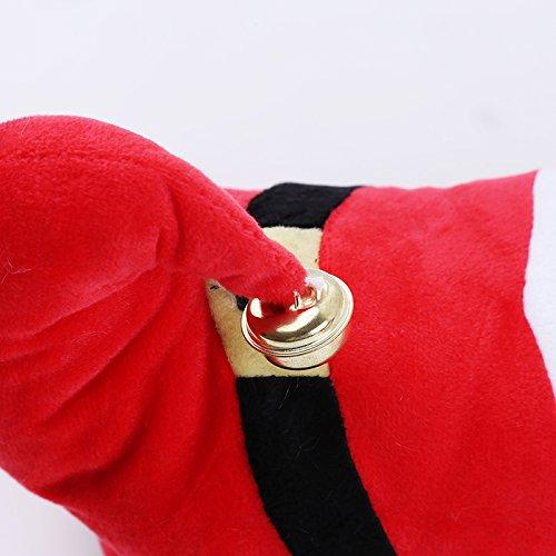 Noël Enfants Chaud Hiver Pantoufles Coton Super Doux Épaissir Belle Maison Pantoufles Chaussures De Festival Dintérieur Rouge
