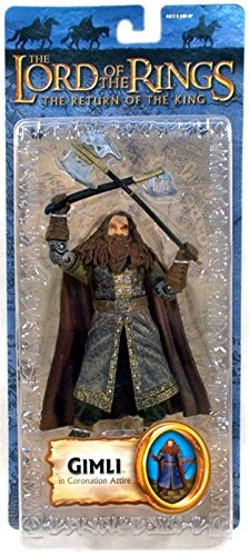 TOYBIZ Toy Biz The Lord of the Rings The Return of the King Series 3 Gimli Action Figure Coronation Attire