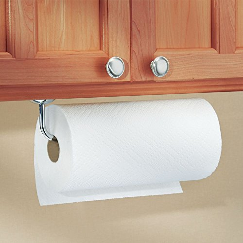 Kitchen Paper Towel Holder Wall Mount Under Cabinet Rod