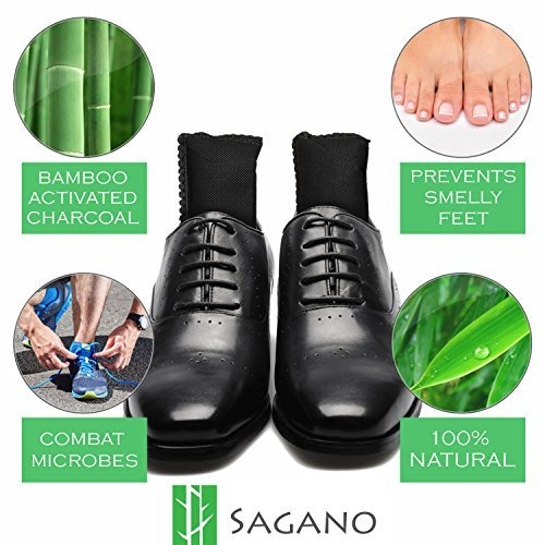 Activated Charcoal Shoe Deodorizer Inserts By Sagano - 2x...