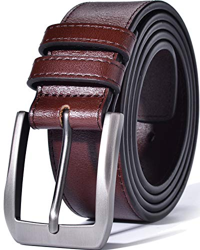 (Beltox Fine Men's Casual Leather Jeans Belts 1 1/2
